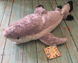 Wild And Wonderful Floppies Black Tip Shark Plush Stuffed Animal Beanie Toy - $29.69