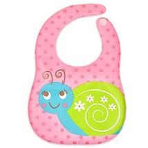 2 Pcs Lovely Snails Comfortable EVA Waterproof Pocket Baby Bibs image 2