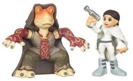 Star Wars 2009 Galactic Heroes 2-Pack Padme and Jar Jar Binks NEW IN PAC... - $129.97