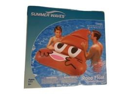 Summer Waves Infatable Swimming Pool Emoji Poop Float Ages 9+ - $12.82