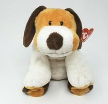 Ty Pluffies 2002 Whiffer Dog Brown & White Stuffed Animal Plush Toy Lovey W/ Tag - $51.43