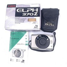 Canon ELPH 370Z 35mm Film Point & Shoot Camera Gold With Case and box - $24.74