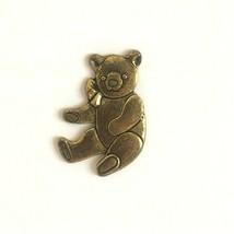 Teddy Bear Gold Tone Pin Lapel - $9.99