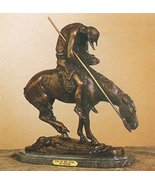 """James Earle Fraser Lost Wax Bronze """"End of the Trail Statue"""" Sculpture -... - $2,075.00"""