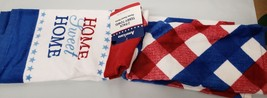"""Set Of 2 Different Printed Kitchen Terry Towels (15"""" X 25"""") Usa, Home Sweet Home - $13.85"""