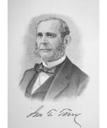 JOHN T. TERRY Connecticut Banker - 1895 Portrait Print - $9.44