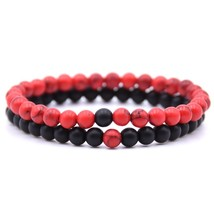 KANGKANG 2 pieces/set 18 styles Natural Stone Beads Bracelet Women Men S... - $14.84