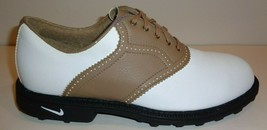 Nike Size 8 COURSE AIR ACCEL E White Taupe New Womens Golf Shoes - $127.71