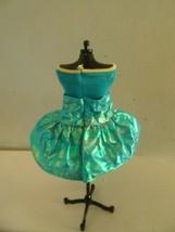 VINTAGE BARBIE DRESS Blue Short Dress sleveless - $3.96