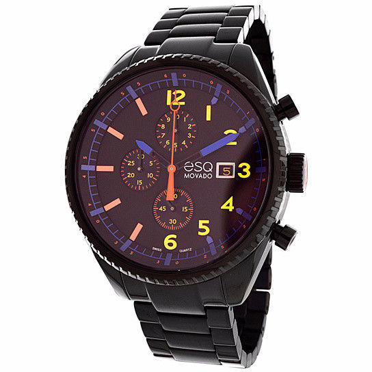 Primary image for BRAND NEW MOVADO ESQ 07301452 CATALYST BLACK-TONE STEEL CHRONOGRAPH MEN'S WATCH