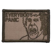 Everybody Panic - 2x3 inch Tactical Morale Patch Hook Fastener - Coyote Brown - $5.87