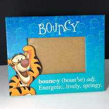 Walt Disney Tigger Picture Frame Bouncy Winnie Pooh 8X7 Green Blue Photo Springy - $17.82