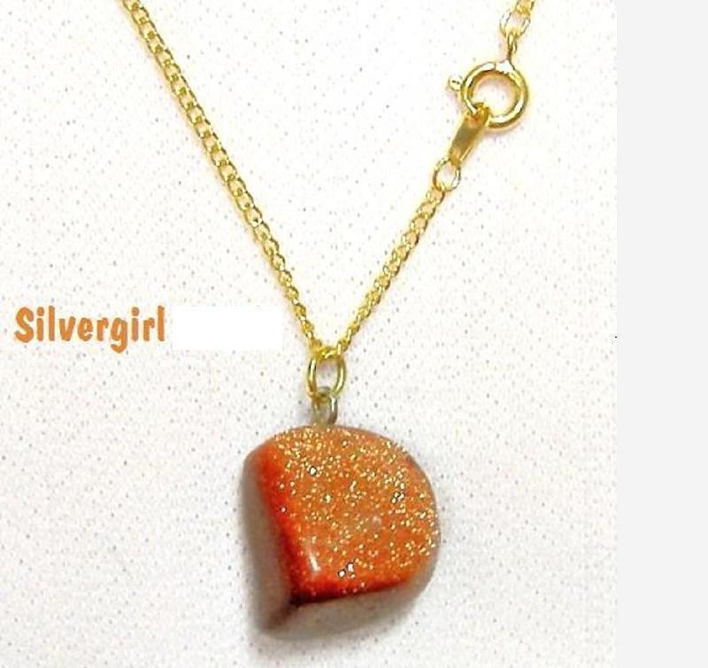Goldstone necklace   5