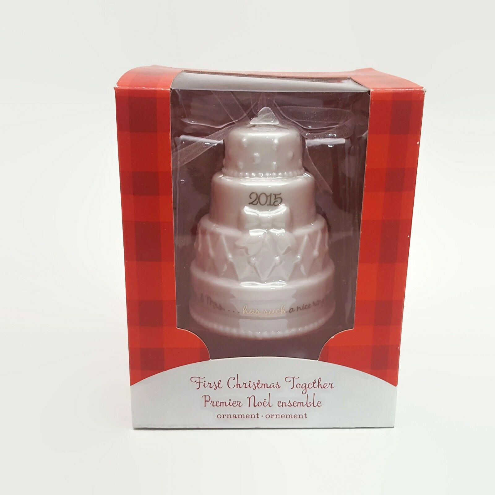 Primary image for American Greetings 2015 First Christmas Together Wedding Cake Ornament New