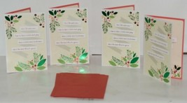 Hallmark XZH 623 1 Foliage Pink Red Berries Christmas Card Package 4 image 1