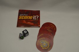 Harry Potter Scene it 1st Edition Board Game Dvd, 2 Dice, 20 House cup rounds - $9.89