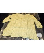 Eddie Bauer Women's Green With White Floral Print Lace Tunic Top Size Large - $11.87