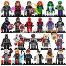 23pcs SuperHero Marvel DC Spiderman Ant Man Joker Harley Quinn Minifigur... - $32.99