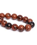 6mm Natural Mahogany Obsidian Beads Grade Round Gemstone Loose Beads 7.5... - $15.65