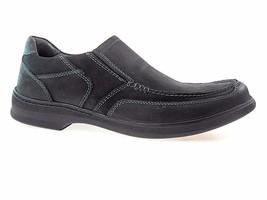 CLARKS EUCLID GUARD 62171 MEN'S BLACK LEATHER LIGHTWEIGHT SLIP-ON SHOES - $79.99