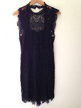 NWT Free People Short Black Crochet Lace Daydream Bodycon Slip Dress S $138 - $88.00
