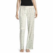 NWT Womens cream stars Fleece Sleep lounge Pants Plaid Pajama Bottoms LARGE - $14.10