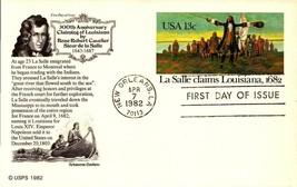 FDC POSTCARD- LA SALLE CLAIMS LOUISIANNA  1682-  ARISTOCRAT CACHET BK15 - $2.94
