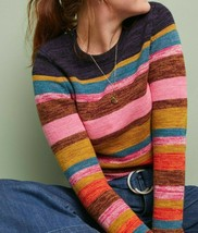Anthropologie Leive Striped Sweater by Moth $130 Sz XS - NWT - $64.99