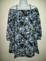 Children's Place Dress Size L 10 12 Blue Rose Cold Shoulder Ruffle Sprin... - $21.55