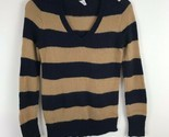 J Crew Womens Sweater Size Small S Wool Long Sleeve Blue Striped Pull Over Top