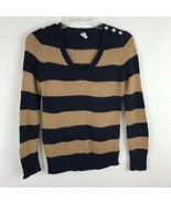 J Crew Womens Sweater Size Small S Wool Long Sleeve Blue Striped Pull Ov... - $17.35