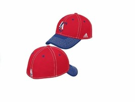 adidas Los Angeles Clippers Two-Tone Contrast Stitched Flex-Fit Hat - L/XL - $7.87
