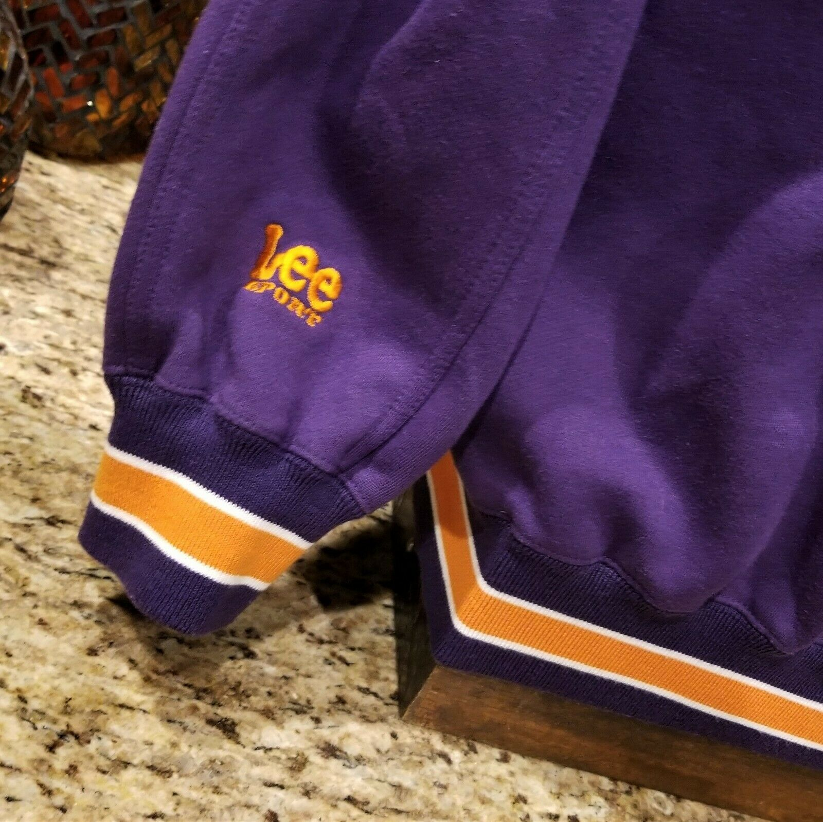 Mens Vintage Lee Sport PHOENIX SUNS Embroidered Logo Purple Sweatshirt Sz XL image 3