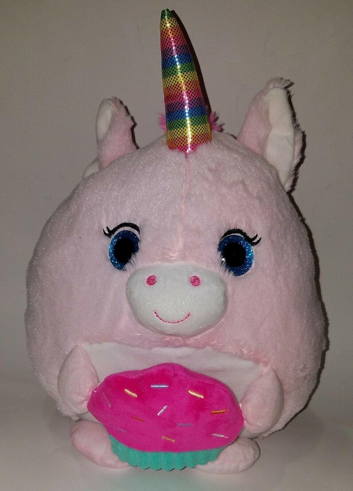 """Unicorn Stuffed Animal Floppy Plush 12/"""" Pink Purple or White w// Sparkles Hug Fun"""