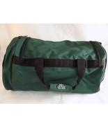 Medium Green Duffle Bag Vinyl 2 Zipper Compartments 1 Pocket Travel Bag - $9.89