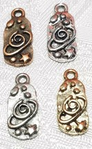 CELESTIAL OUTER SPACE FINE PEWTER PENDANT CHARM - 9mm L x 19mm W x 2mm D