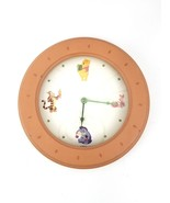 "Disney Simply Pooh Winnie the Pooh Wall Clock Round Wood and Glass 11"" D... - $26.17"