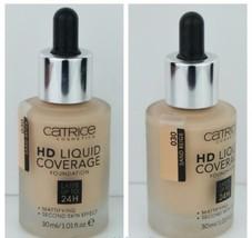 Catrice HD Liquid Coverage 24H Foundation Mattifying 030 Sand Beige 30 ml - $13.23