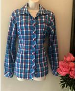 Columbia Insect Blocker Shirt Keep Bugs At Bay Women's Large PLAID TICKS... - $17.59
