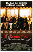 EMILIO ESTEVEZ & JUDD NELSON Signed 'St. Elmo's Fire' 11x17 Movie Poster... - $246.51