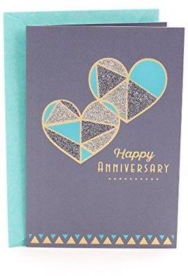 Hallmark Anniversary Greeting Card (Two Hearts) - $13.47