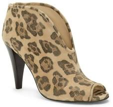 Vince Camuto Amber Peep Toe Block Heel Shooties, Multiple Sizes Leopard VC-AMBER - $99.95