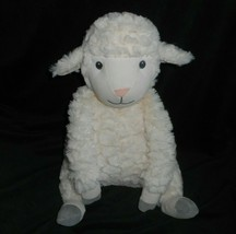 "13"" First Impressions Macy's Creme Grey Baby Lamb Sheep Stuffed Animal Plush Toy - $28.05"