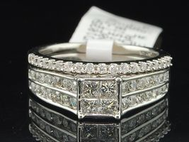 2Ctw Simulated Diamond 14K White Gold Over Wedding Bridal Ring Set  - $99.99