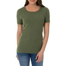 Time & Tru Women's Crew Neck T Shirt B Leaf 2XL (20) Short Sleeve Regular - $11.87