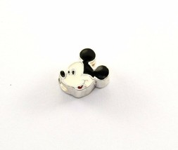 VINTAGE DISNEY JMC MICKEY MOUSE ENAMELED BEAD CHARM 925 STERLING CH 5 - $15.99