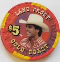 Las Vegas Rodeo Legend Lane Frost '96 Gold Coast $5 Casino Poker Chip - $19.95