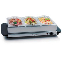 MegaChef Buffet Server & Food Warmer With 3 Removable - $98.06