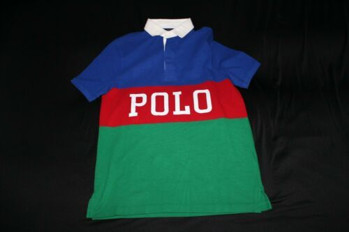 Primary image for Women'sS RALPH LAUREN S/S STRIPED POLO SHIRT Size L