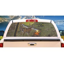 Deer Stepping Out Rear Window Mural, Decal, or Tint for rear window in Truck, RV - $77.99
